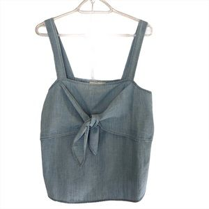 Madewell Denim Tie-Front Cami Top Size 12